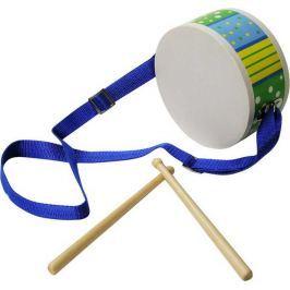 Dětské hudební nástroje - Bubínek modrý s paličkama