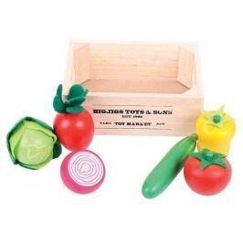 Bigjigs Toys dřevěné potraviny - Salát v přepravce