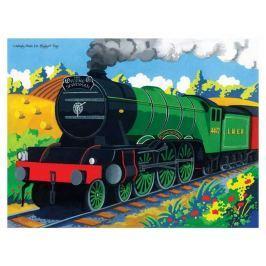 Bigjigs Toys puzzle - Vlak Flying Scotsman  - 48 dílků