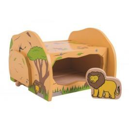 Dřevěné vláčkodráhy Bigjigs - Lví jeskyně - poškozený obal