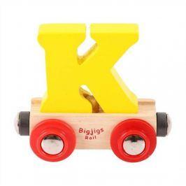 Bigjigs Rail vagónek dřevěné vláčkodráhy - Písmeno K