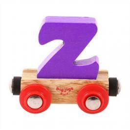 Bigjigs Rail vagónek dřevěné vláčkodráhy - Písmeno Z