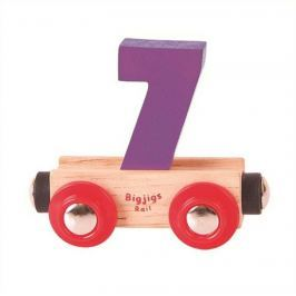 Bigjigs Rail vagónek dřevěné vláčkodráhy - Číslo 7