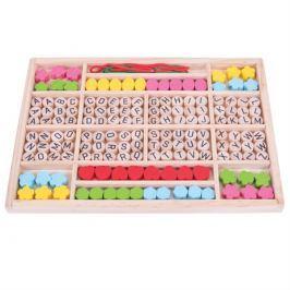 Bigjigs Toys Dřevěné hračky - Navlékací korálky Abeceda