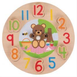 Bigjigs Toys edukativní hodiny medvídek