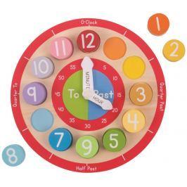 Bigjigs Toys edukativní hodiny angličké