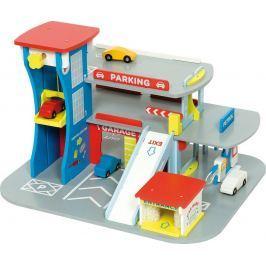 Bigjigs Toys - Dřevěná garáž pro auta
