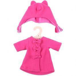 Bigjigs Toys červený kabátek s čepičkou pro panenku 35 cm