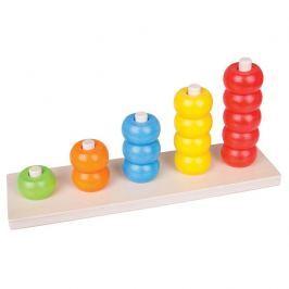 Bigjigs Toys dřevěná motorická deska nasazování korálky