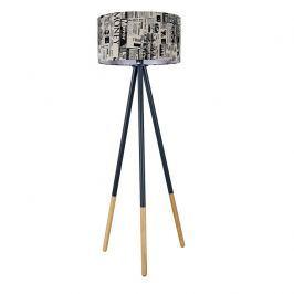 Tempo Kondela Stojací lampa, černý kov / látka, Cinda Typ 6