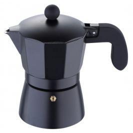 BERGNER Konvice na espresso, 3 šálky, černá