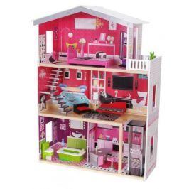 ECO TOYS Dřevěný domek pro panenky s výtahem  - Rezidence Malibu