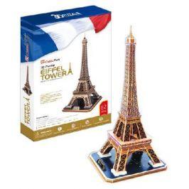 CUBICFUN Puzzle 3D Eiffelova vež - 82 dílků