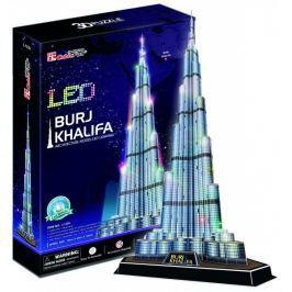 CUBICFUN 3D puzzle  - Burdž Chalífa - svítící LED 3D