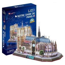 CUBICFUN 3D puzzle  - Notre Dame, Paříž - svítící LED 3D