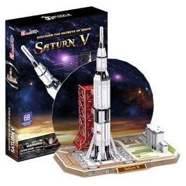 CUBICFUN Puzzle 3D Raketa Saturn V - 68 dílků