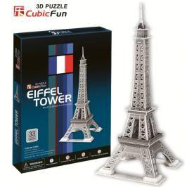 CUBICFUN 3D puzzle  - Eiffelova věž stříbrná 3D, Paříž
