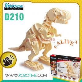 ROBOTIME 3D dřevěné robotické puzzle  T-Rex chodící D210
