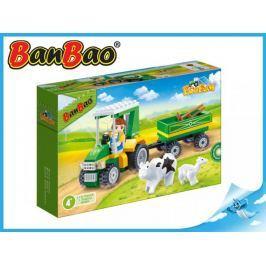 Mikro Trading a.s. BanBao stavebnice - Eco Farm - farmářský traktůrek s vlečkou 115ks + 1 figurka T