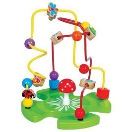 Lelin Edukační dřevěná hračka labyrint 26 cm - Zahrádka