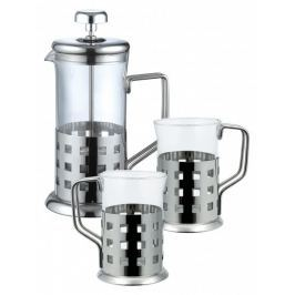RENBERG French press 800ml nerez sada 3 ks