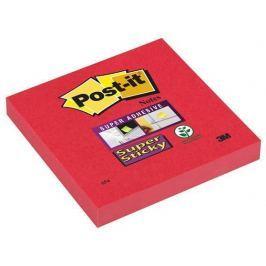 3M POSTIT Samolepicí bloček, červená, 76x127 mm, 90 listů,