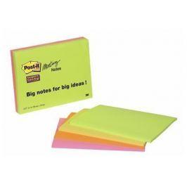 3M POSTIT Samolepicí bloček, 149x200 mm, 45 listů, , různé barvy