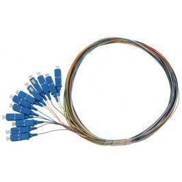 SOLARIX pigtail SC pc, SM 09/125, 1,5m, balení 12ks barevně rozlišeno,  SXPI-SC-