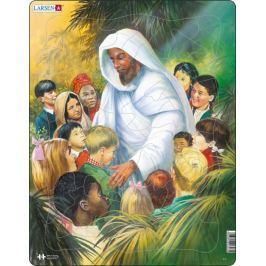 LARSEN Puzzle Ježíš s dětmi 32 dílků