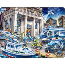LARSEN Deskové puzzle  43 dílků - Loupež v bance
