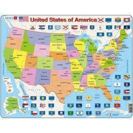 LARSEN Výukové puzzle  48 dílků - USA - politická mapa (anglicky)