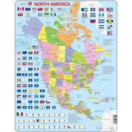 LARSEN Výukové puzzle  85 dílků - Severní Amerika - politická mapa (anglicky)