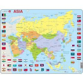 LARSEN Výukové puzzle  70 dílků - Asie - politická mapa (anglicky)