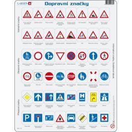 LARSEN Vzdělávací puzzle  48 dílků - Dopravní značky