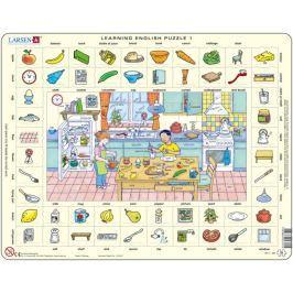 LARSEN Vzdělávací puzzle  70 dílků - Angličtina 1: V kuchyni
