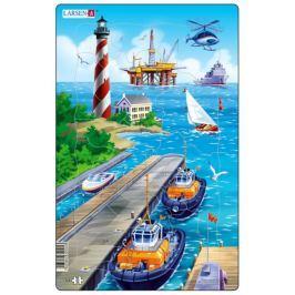 LARSEN Puzzle U moře: Námořní přístav 22 dílků