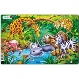 LARSEN Dětské puzzle  14 dílků - U napajedla