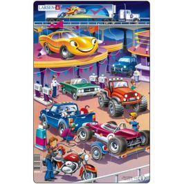 LARSEN Dětské puzzle  15 dílků - Auta na benzínce