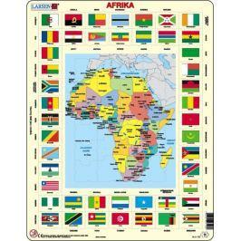 LARSEN Puzzle MAXI - Mapa Afriky + vlajky/70 dílků