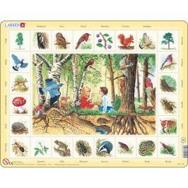 LARSEN Vzdělávací puzzle  48 dílků - Les