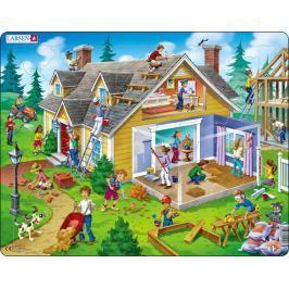 LARSEN Puzzle Rekonstrukce domu 62 dílků