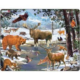 LARSEN Deskové puzzle  54 dílků - Krajina severního lesa