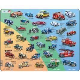 LARSEN Deskové puzzle  42 dílků - Historická auta