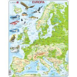 LARSEN Deskové edukativní puzzle  87 dílky - Geografická mapa Evropy