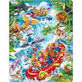LARSEN Dětské puzzle  35 dílků Raft na Amazonce