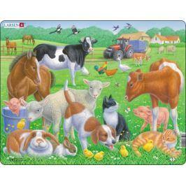 LARSEN Puzzle Domácí zvířata 15 dílků