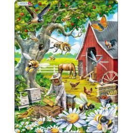 LARSEN Puzzle Včelař s úlem 53 dílků