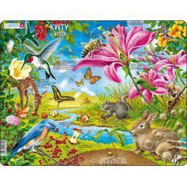LARSEN Puzzle Květy a včely 55 dílků