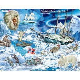 LARSEN Puzzle Dobývání Severního Pólu 65 dílků