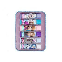 Lip Smacker Sada balzámů na rty s různými příchutěmi Disney Frozen (Tin Box) 6 ks